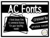 AC Fonts | AC Spaced Font