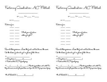 AC Method Graphic Organizer