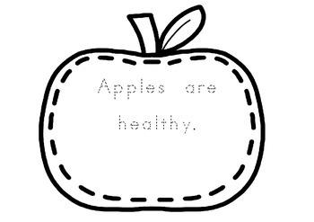 ACARA ACPPS006 Apple shaped tracing book F-1 Fruit Health Literacy Fun