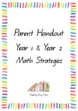ACARA C2C  Year 1 & 2 Math Parent Handouts containing all