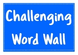 ACARA Challenging Words Flashcards