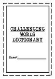 ACARA Challenging Words Student Dictionary