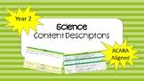 ACARA Year 2 Science Content Descriptors