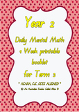 ACARA, Year 2, Term 3, 10 Week Daily Computation Warm-up M