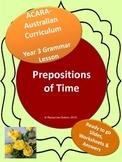 NAPLAN Year 3 Grammar - Prepositions of Time
