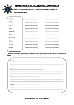 ACARA Year 8 - Interactive Notebook for Spelling and Vocabulary