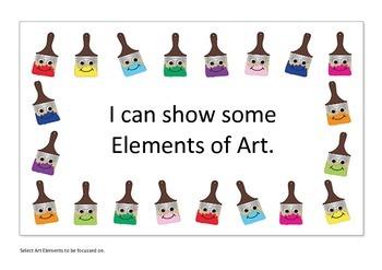 ACARA based Visual Arts 'I can statements' Prep/Foundation - Year 2
