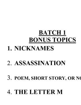 ACB Practice Questions - Batch 1