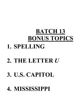 ACB Practice Questions - Batch 13