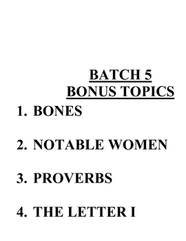 ACB Practice Questions - Batch 5