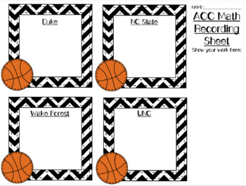 ACC Math Task Cards Sampler