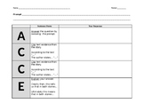 ACCE (Crossover Short Answer) Graphic Organizer