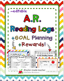 ACCELERATED READER AR Reading Logs, Goal Planning, Rewards BUNDLE {Editable}