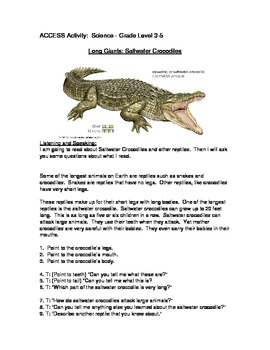 ACCESS Mock Question Listening and Speaking 3-5