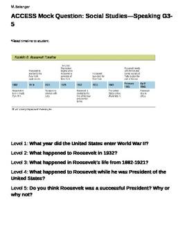 ACCESS Mock Question Speaking 3-5
