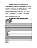 ACCESS Student Empowerment Questionnaire