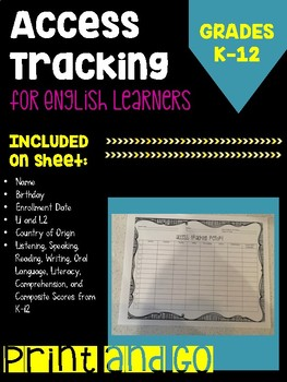 ACCESS Student Tracking Report