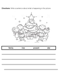 ACCESS Writing Test Prep ESL Students - Christmas Theme - Grades 1-2 - WIDA