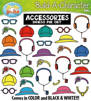 ACCESSORIES Build A Kid Character Clipart {Zip-A-Dee-Doo-Dah Designs}