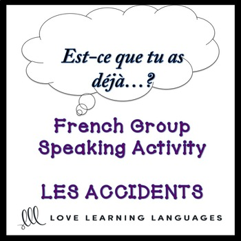 ACCIDENTS ET URGENCES  French Speaking Activity: Est-ce que tu as déjà