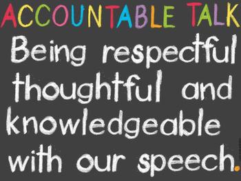 ACCOUNTABLE TALK FREEBIE