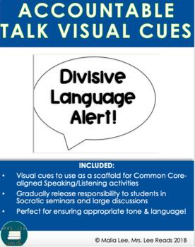 ACCOUNTABLE TALK SPEECH BUBBLE VISUAL FREEBIE!
