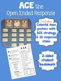 ACE Answer Cite Extend Strategy for answering open-ended & citing text evidence
