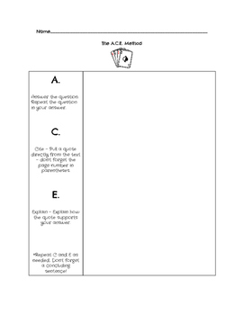 ACE Citation Graphic Organizer