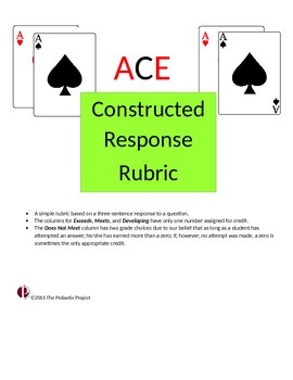 ACE Constructed Response Rubric