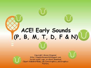 ACE! Early Sounds (P, B, M, T, D, F, and N)