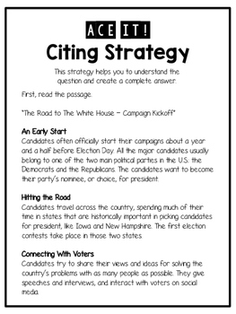 ACE It! Text Citing Strategy With Guided Practice