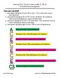 ACE Lesson Four:  Writing Paragraphs with ACE to Cite Evid