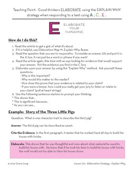 ACE Lesson Six: Elaboration Strategy with the Explain Why Method (Part One)