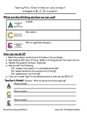 ACE Lesson Two:  Sentence Starters for Elaboration of Text Evidence