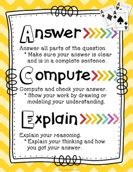 ACE Math Strategy - Writing Constructed Responses