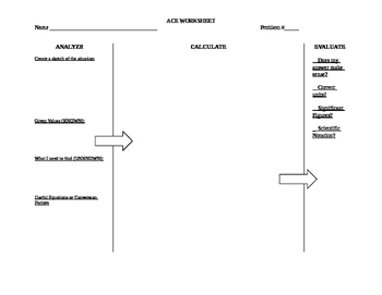 ACE Physics Problem Solving Worksheet