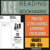 ACE Reading Bookmarks