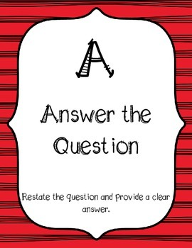 ACE Short Answer Responses Classroom Posters