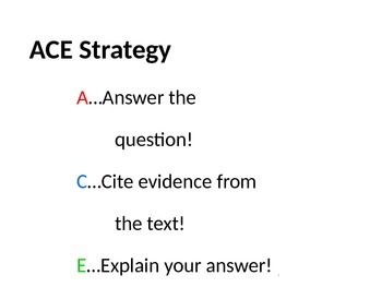 ACE Strategy by Ms. Van English | Teachers Pay Teachers