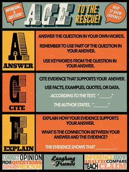 ACE Strategy Anchor Chart (Answer with Evidence) [Digital Version]