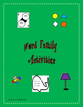 ACE-UNK WORD FAMILY ACTIVITIES