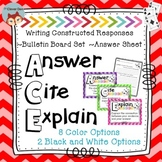 ACE Reading Strategy for Writing Constructed Responses - Bulletin Board Set