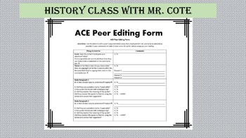 ACE Writing Strategy Peer Edit Form