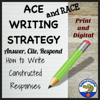 ACE Writing Strategy Posters and Practice Sheets