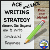 A.C.E. & R.A.C.E. Writing Strategy Posters and Practice Sheets Distance Learning