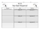ACE Your Open Response! Middle School / High School ELA