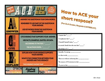 ACE Your Short Response (ELA Exam, Regents & NYSESLAT for ELLs and Special Edu)