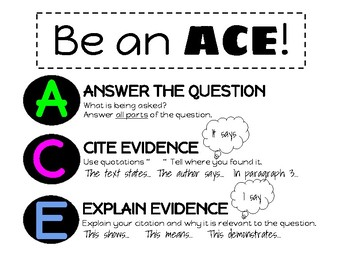 ACE graphic organizer for short answer constructed response questions