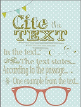 ACE template for writing ANCHOR CHARTS