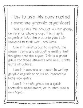 ACE the Problem: A Math Constructed Response Graphic Organizer